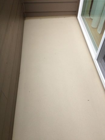 Water Proof Deck Under Sliding Door